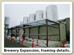 Brewery Expansion, framing details