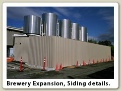 Brewery Expansion, siding details